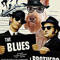Scottish Terrier Art Canvas Print - The Blues Brothers Movie Poster Poster by Sandra Sij