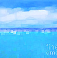Sea and Sky Abstract Print by Natalie Kinnear