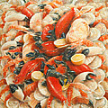 Seafood Extravaganza Print by Lincoln Seligman