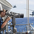 Seaman Apprentice Stands Watch Aboard Print by Stocktrek Images
