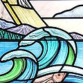 Seascape Print by Gilroy Stained Glass