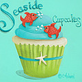 Seaside Cupcakes Poster by Catherine Holman