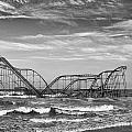 Seaside Heights - Jet Star Roller Coaster Print by James Nesterwitz