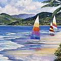 Seaside Sails Print by John Zaccheo