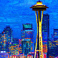 Seattle Space Needle 20130115v1 Poster by Wingsdomain Art and Photography