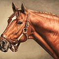 Secretariat at Claiborne Poster by Thomas Allen Pauly