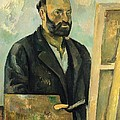Self Portrait with Palette Poster by Paul Cezanne