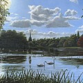 September Afternoon in Clumber Park Print by Richard Harpum