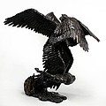 Seraph Angel a religious bronze sculpture by Adam Long Print by Adam Long