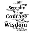Serenity Prayer 6 - Simple Black And White Poster by Sharon Cummings