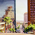 Seventh Avenue in San Diego Poster by Mary Helmreich