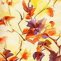 Shadow Leaves Print by Summer Celeste