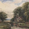 Shardlow Lock with the Lock keepers Cottage Poster by James Orrock