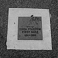 SHEA STADIUM FIRST BASE in BLACK AND WHITE Poster by ROB HANS