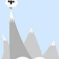 Sheep On Top of a Mountain Poster by Christy Beckwith