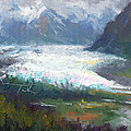 Shifting Light - Matanuska Glacier Print by Talya Johnson