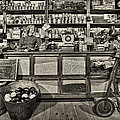 Shopping at the General Store Print by Priscilla Burgers