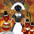 Siamese Queen of Thanksgiving Print by Jamie Frier