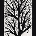 Silhouette Maple Print by Barbara St Jean