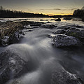 Silky river Print by Davorin Mance