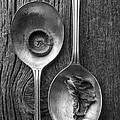 Silver Spoons Black and White Poster by Edward Fielding