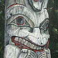 Sitka Totem-Alaska Poster by Elaine Booth-Kallweit