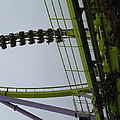 Six Flags Great Adventure - Medusa Roller Coaster - 12122 Print by DC Photographer