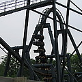 Six Flags Great Adventure - Medusa Roller Coaster - 12124 Print by DC Photographer