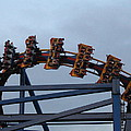 Six Flags Great Adventure - Medusa Roller Coaster - 12127 Poster by DC Photographer