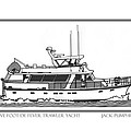 Sixtyfive Foot DeFever Trawler Yacht Poster by Jack Pumphrey