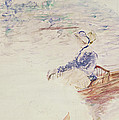 Sketch of a Young Woman in a Boat Print by Berthe Morisot
