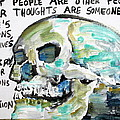 SKULL quoting OSCAR WILDE.10 Print by Fabrizio Cassetta