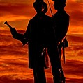 Sky Fire - 73rd NY Infantry Fourth Excelsior Second Fire Zouaves-B1 Sunrise Autumn Gettysburg Print by Michael Mazaika