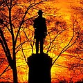 Sky Fire - Flames of Battle 50th Pennsylvania Volunteer Infantry-A1 Sunset Antietam Poster by Michael Mazaika