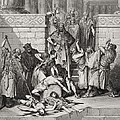 Slaughter of the Sons of Zedekiah before their Father Poster by Gustave Dore