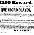 SLAVE FAMILY and CHILDREN ESCAPE - REWARD POSTER - 1847 Poster by Daniel Hagerman