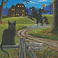 Sleepy Hollow-Katrina's Cat Print by Misty Walkup