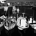 small fishing boats in bunbeg harbour county Donegal Republic of Ireland Print by Joe Fox