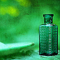 Small Green Poison Bottle Poster by Rebecca Sherman