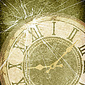 Smashed Clock Face Print by Christopher and Amanda Elwell