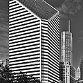 Smurfit-Stone Chicago - now Crain Communications Building Poster by Christine Till