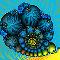 Snail Mail-Fractal Art Poster by Carlita Cooly