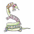 Snake Wearing a Scarf Print by Christy Beckwith