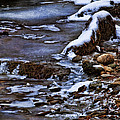Snow And Ice Water And Rock Print by Dale Kincaid