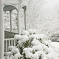 Snow Covered Porch Print by Keith Webber Jr