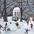 Snow Follies Print by Judy Joel