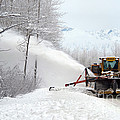 Snow Plow Print by Mark Newman