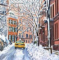 Snow West Village New York City Poster by Anthony Butera