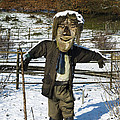 Snowcapped Scarecrow Print by Anne Gilbert