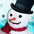 Snowman Christmas Art - Frosty Poster by Sharon Cummings